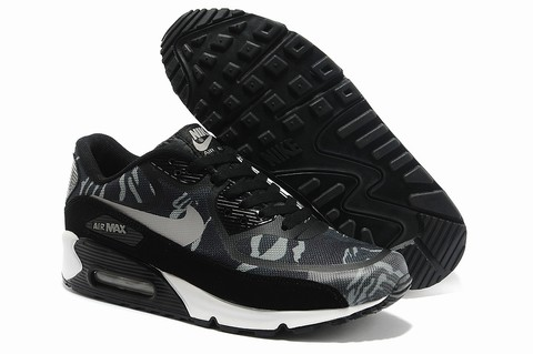 nike air max 90 femme chaussures noir blanc 5031